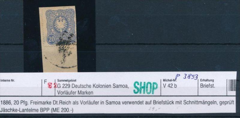 Samoa Vorläufer  V42b  o     geprüft Jäschke-Lant. BPP  (p3853 ) siehe scan !