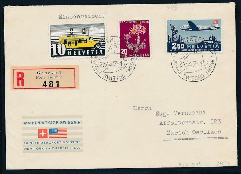Schweiz Luft Post 1947 Brief Bc9435 Siehe Scan Nr 336476487