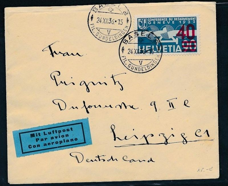 Schweiz Luft Post 1936 Brief Bc9427 Siehe Scan Nr 336476627