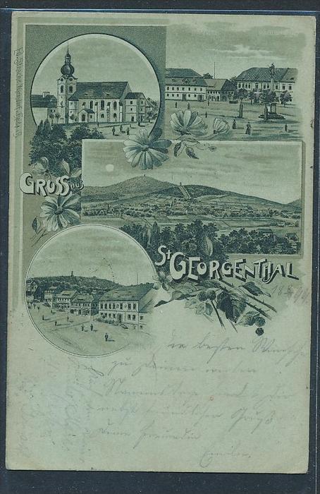St. Georgen Thal alte Karte-gebraucht  (bc9419  ) siehe scan  !