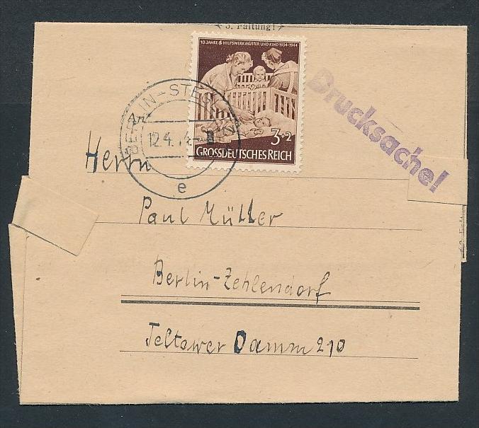 D.-Reich - Sammler Beleg _Drucksache  ( zz8218 ) siehe scan  !