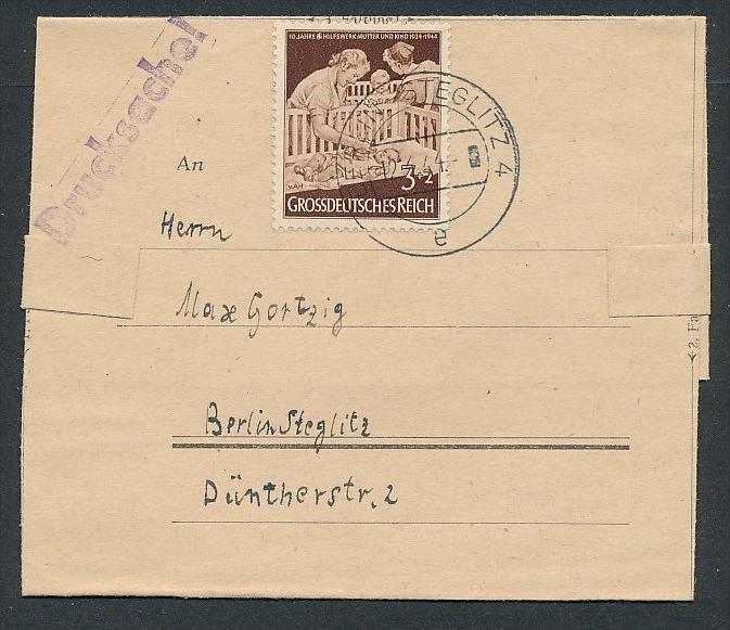 D.-Reich - Sammler Beleg _Drucksache  ( zz8217 ) siehe scan  !