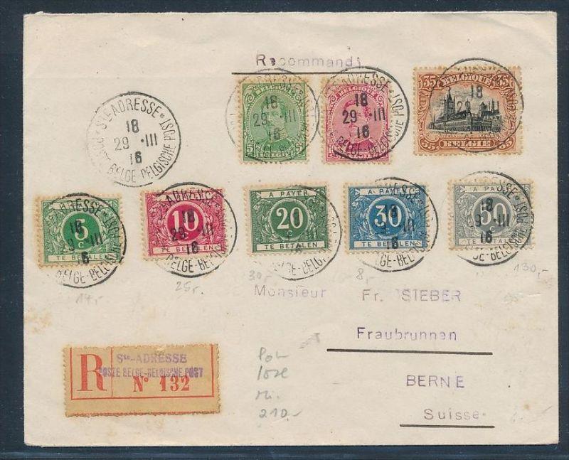 Belgien alter Sammler Beleg   ( zz8250  ) siehe scan  !