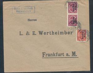 D.-Reich Dienst  Brief -Schweinfurt  (zz8337  )siehe scan  !