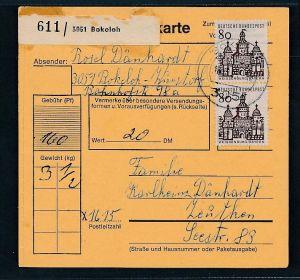 BRD  Paketkarten Stammteil  MEF   461  ( bc9525 ) siehe scan  !