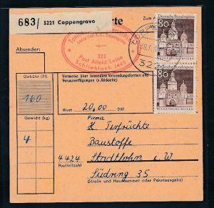 BRD  Paketkarten Stammteil  MEF   498  ( bc9523 ) siehe scan  !