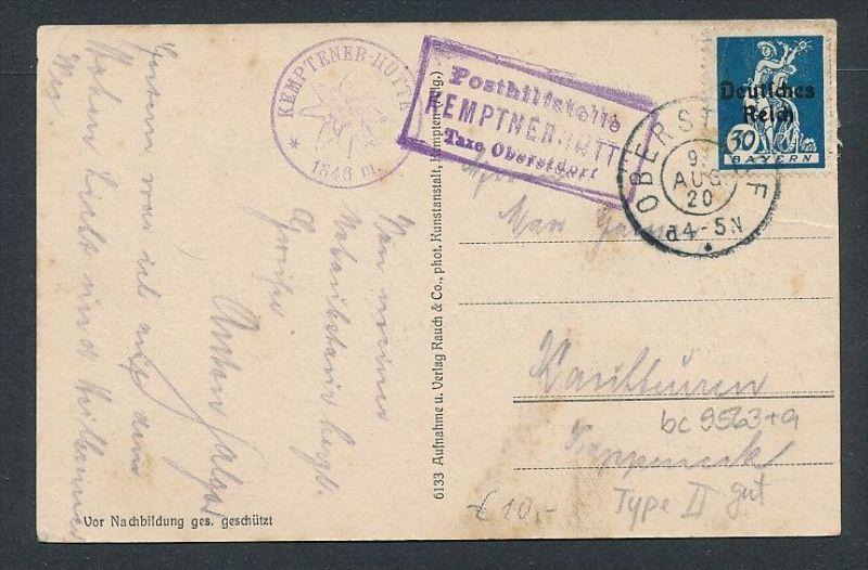 Bayern Karte-Posthilfstelle - Kempten   (bc9563 ) siehe scan !