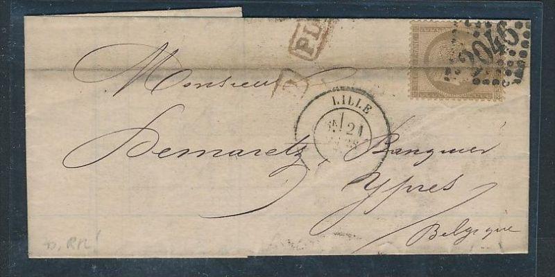 Frankreich Alter Brief Ceres Nach Belgien Bc9635 Siehe Scan Nr