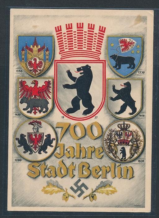 alte Karte  700 Jahre Berlin-Propaganda  (bc9837 ) siehe scan !