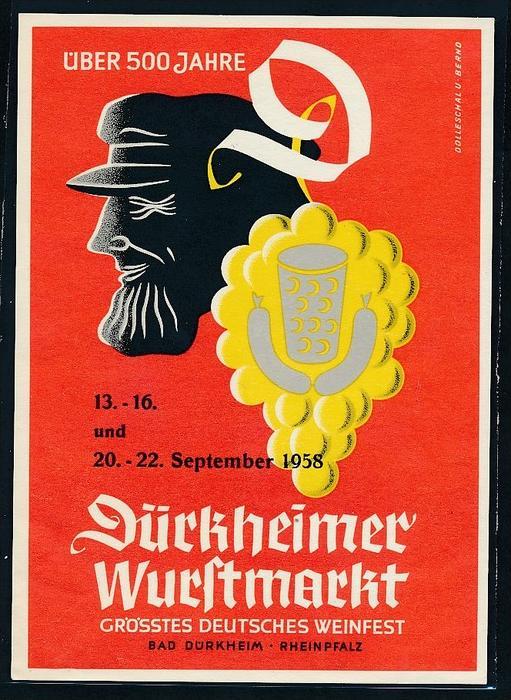 Werbe Karte  Bad Dürkheim  ungebraucht ( bc9887 ) siehe scan