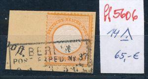 D.Reich  Nr. 14   Briefstück  (ff5606 ) siehe Bild