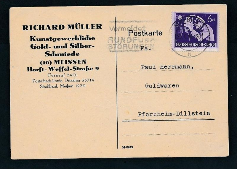 D.-Reich -Sammler Beleg    (zz8623 ) siehe scan