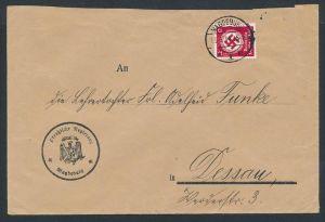 3. Reich  Dienst Brief Magdeburg   (zz8690 ) siehe scan !