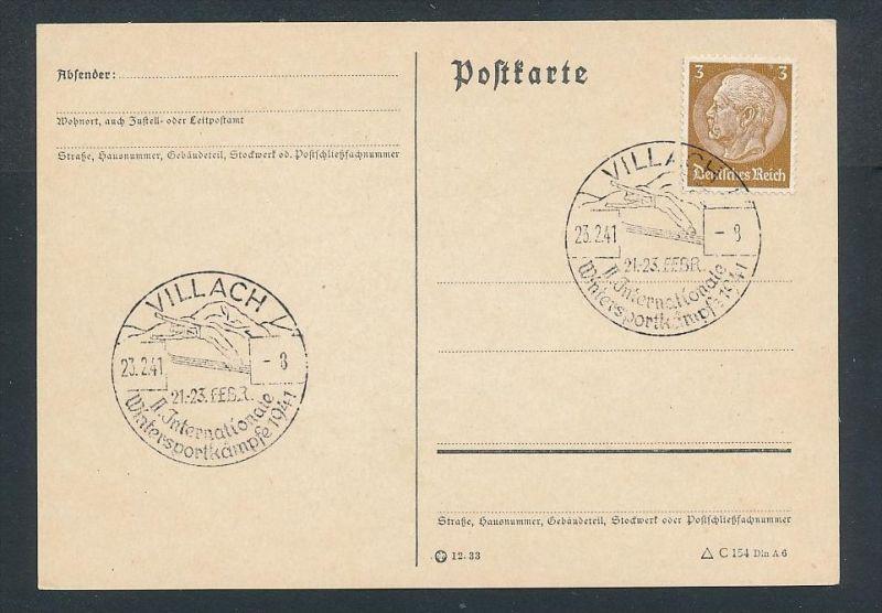 D.-Reich-werbe/Propaganda Stempel Beleg   (be 277 ) siehe scan !