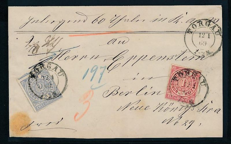 Briefvorderseite Torgau     (be356 ) siehe scan !