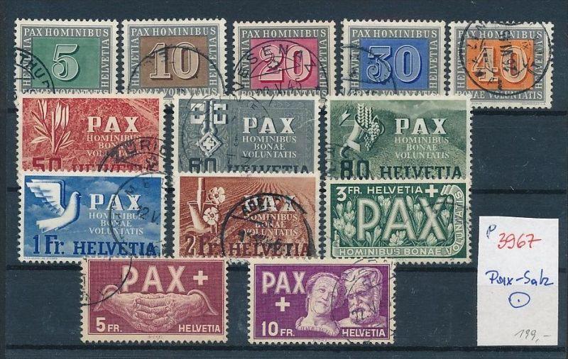 Schweiz der seltene Pax-Satz  o   (p3967 )  siehe scan !