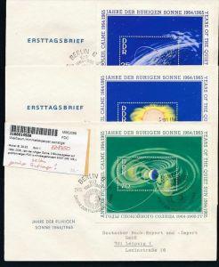 DDR  FDC Block 20-22  selten-für den Export hergestellt   (zz8750  )  siehe scan !