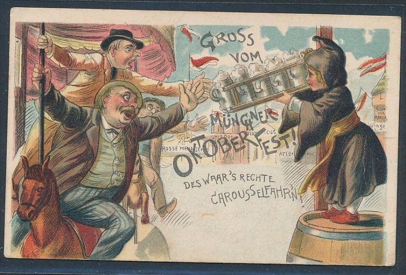 Oktoberfest München  alte Karte  nicht gelaufen...   (  be425 ) siehe scan  !
