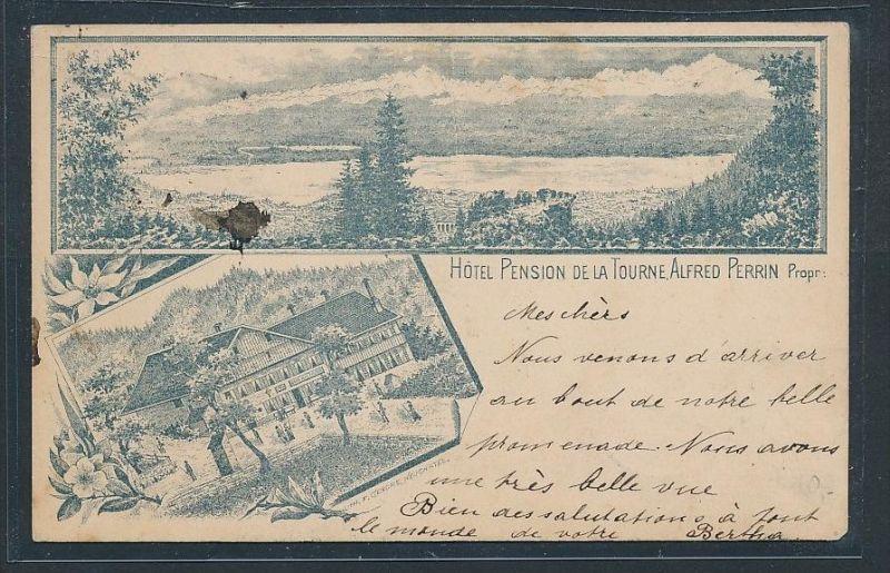 Schweiz Perrin  alte Karte  von 1896   (  be423 ) siehe scan  !