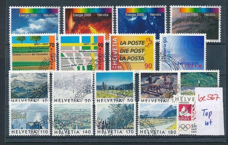 Schweiz super Steckkarten Lot -Versandstellen Stempel-DISCOUNT (be567 ) Rechnen Sie mal den SFR.-Post-Preis ..!