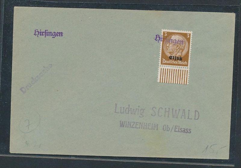 Elsaß  netter Stempel Beleg    (be627  ) siehe scan  !