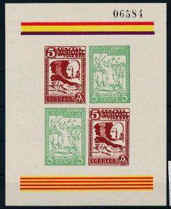 Spanien Block  Militär   -Bürgerkrieg    ** (zz8881  ) siehe scan  !