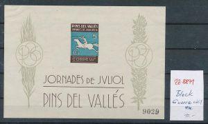 Spanien Block  Guerra Civil   -Bürgerkrieg     ** (zz8871  ) siehe scan  !