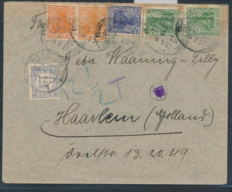 Germania Brief Nachporto Holland Zz8815 Siehe Scan Nr 347313691