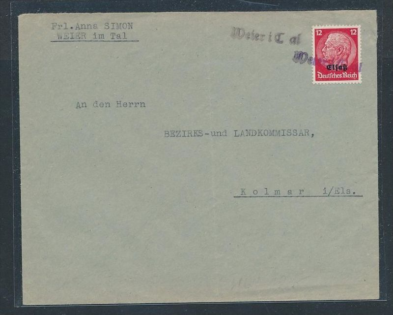 Elsaß netter Stempel Beleg    (zz8794  ) siehe scan