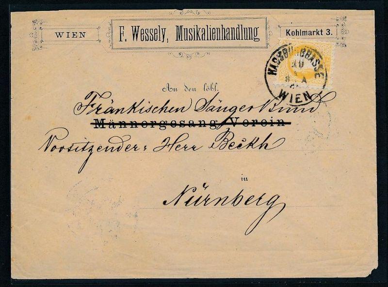 Österreich Kaiser Zeit netter Beleg   (be 1061 ) siehe scan ....