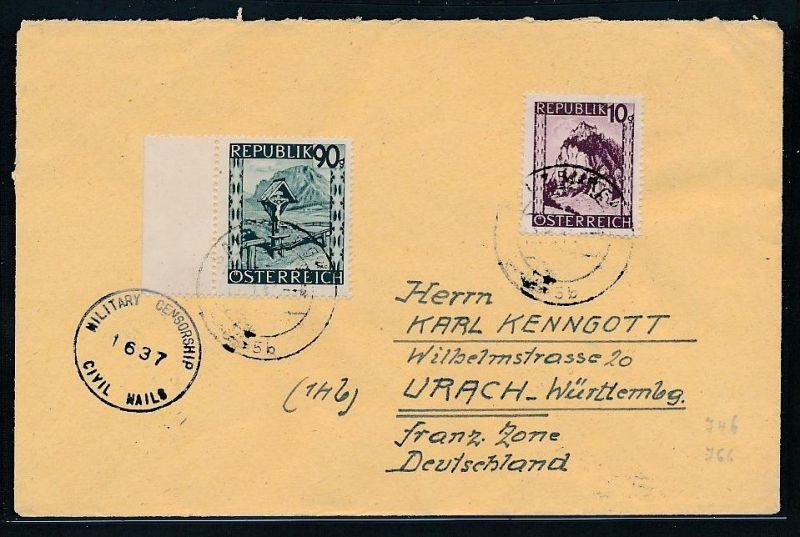 Österreich  - Beleg Zensur Post  (be 1072   ) siehe scan ....