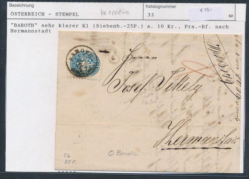 österreich Kaiserzeit Brief Stempel Be1105 Siehe Scan
