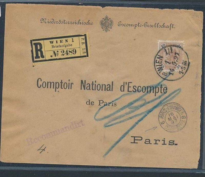 österreich Kaiserzeit R Brief Nach Paris Zz8935 Siehe Scan