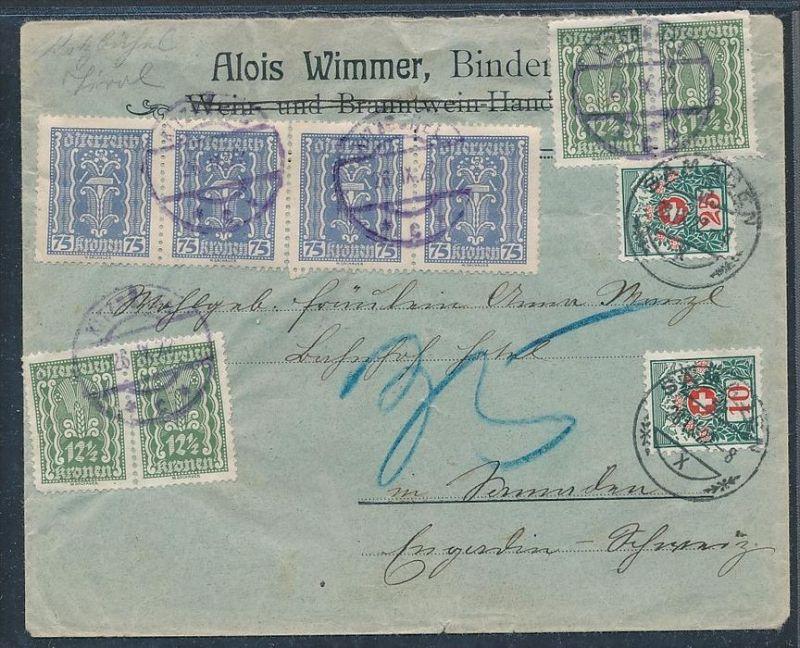 österreich Auslands Brief Nachporto Zz8930 Siehe Scan Nr