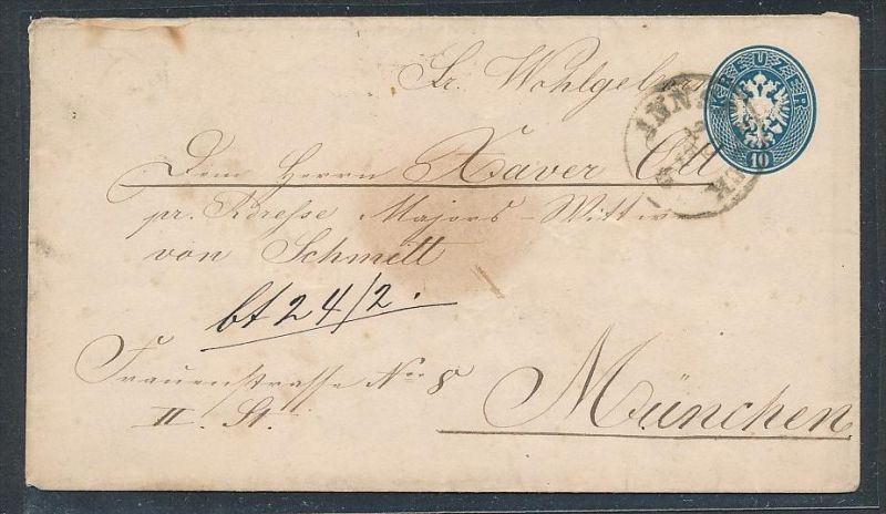 österreich Kaiserzeit Brief Stempel Ganzsache Be1100