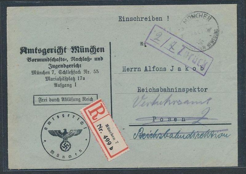 Gerichts Brief München     (be1260  ) siehe scan