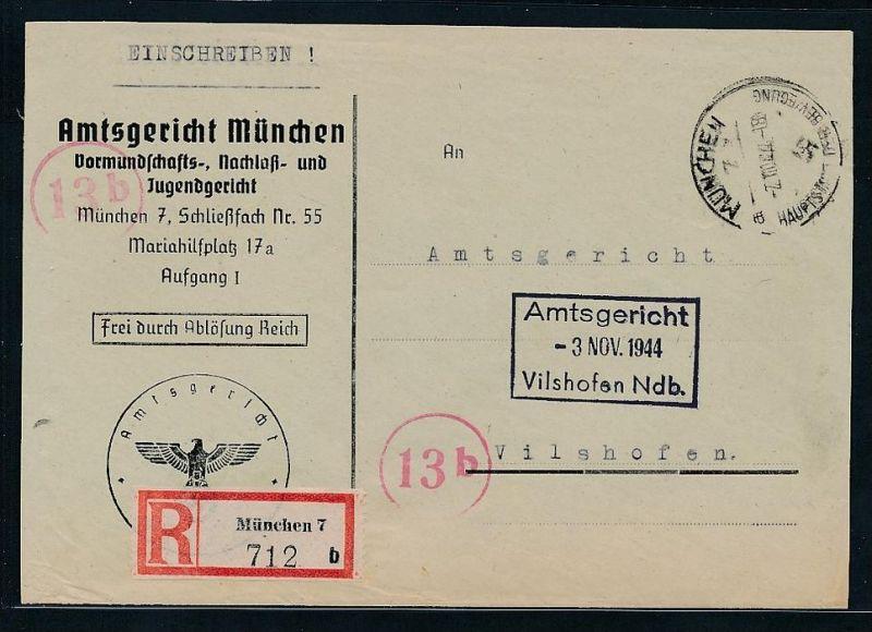 Gerichts Brief München     (be1261  ) siehe scan