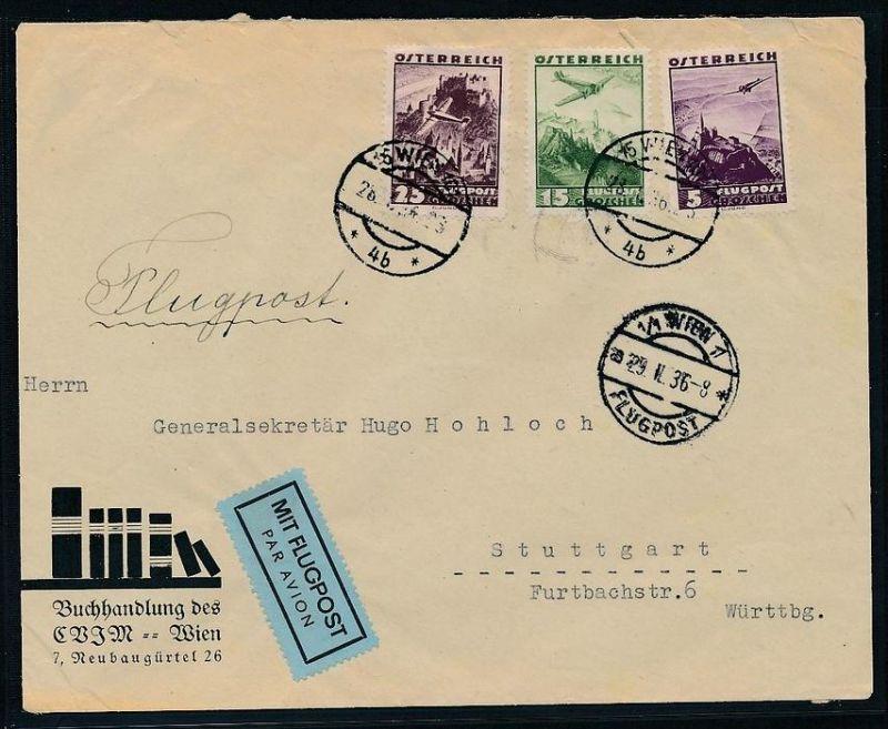 Österreich  -Luftpost Beleg nach Deutschland     (zz8989 ) siehe scan