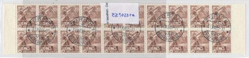Schweiz Streifen 10x 500 R+10x 500 Rollenmarken aus Bogen 1000,-Michel (zz9023 ) bitte lesen ! Sonderpreis !
