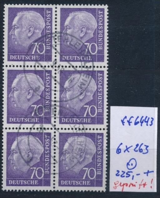 Bund-Rollen Marken aus Bogen 6 er Block Nr. 263 (ff6443 ) siehe scan