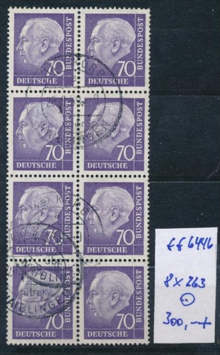 Bund-Rollen Marken aus Bogen 8 er Block Nr. 263 (ff6446  ) siehe scan