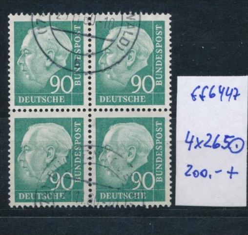 Bund-Rollen Marken aus Bogen 4 er Block Nr. 265 (ff6447  ) siehe scan