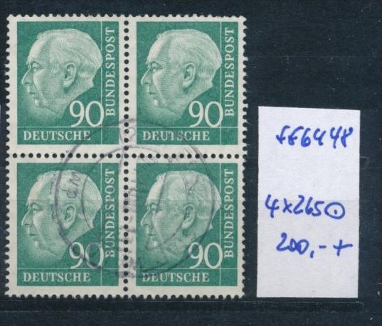 Bund-Rollen Marken aus Bogen 4 er Block Nr. 265 (ff6448  ) siehe scan