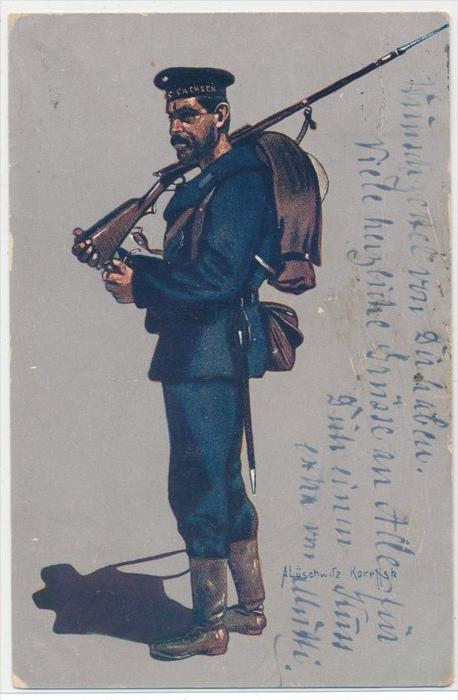 Mariene Soldat -alte Postkarte  (da 4886  ) siehe Bild !!