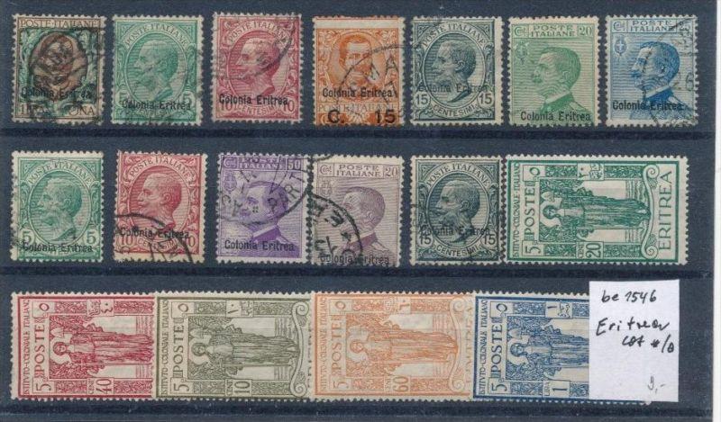 Italien Lot- Kolonien Eritrea    (be1546  ) siehe scan vergrößert...