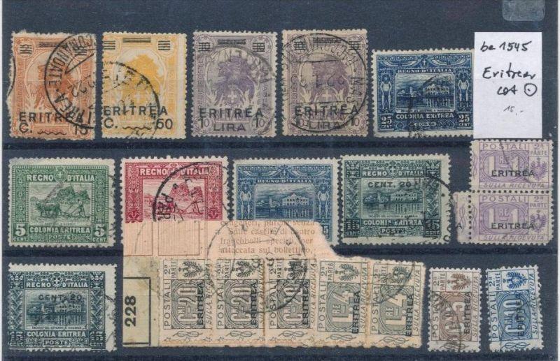 Italien Lot- Kolonien Eritrea    (be1545  ) siehe scan vergrößert...