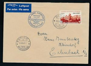 Schweiz- Sonderflug 1943  (be1569 ) siehe scan vergrößert