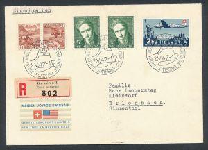 Schweiz- Sonderflug 1947  (be1571 ) siehe scan vergrößert