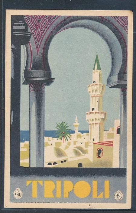 Tripoli ungebraucht -alte Karte (da5034 ) siehe scan