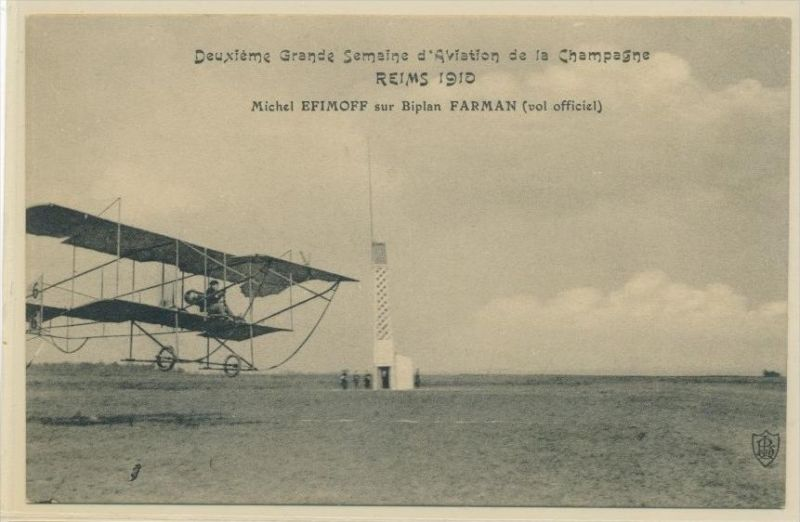 Reims 1910  Flugzeug    -alte Karte   (da4956  ) siehe scan !